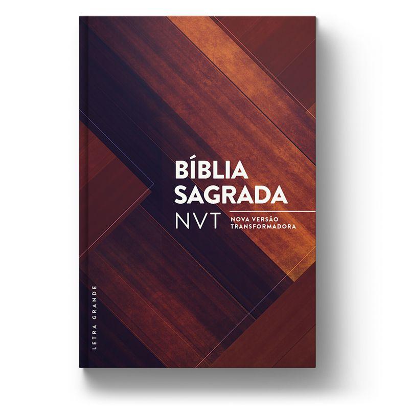 Bíblia NVT Madeira Triângulos  - Sankto | Crer para entender