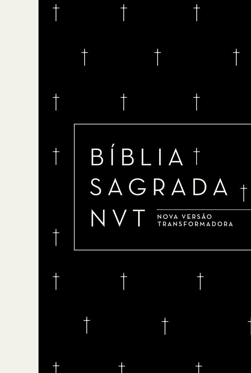 Bíblia NVT Cruz Preta  - Sankto   Crer para entender