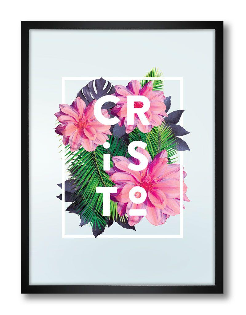 Pôster - Flores Tropicais Cristo