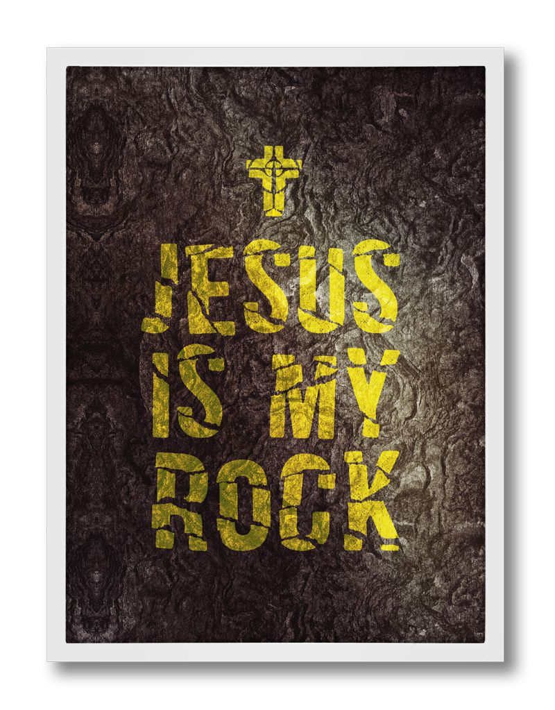 Pôster - Jesus Is My Rock