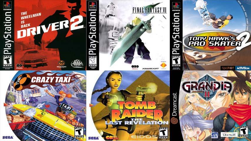 jogos para playstation 1 e dreamcast, ps1 e dc