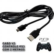 Cabo Usb V3 Para Carregar Controle De Ps3 Com 2 Metros V3 Original Knup