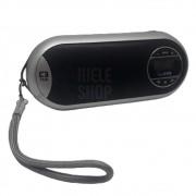 Caixa Caixinha Som Portátil Mp3 Usb Cartão Sd Fm Speaker 2.0 - Recarregável Cinza