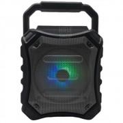 Caixa de Som Amplificada Bluetooth Led Portátil Mp3 Rádio Fm Usb Aux Sd Mic - Preto