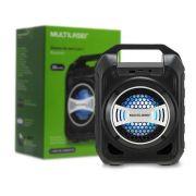 Caixa De Som Amplificada Bluetooth Portátil MP3 Rádio Fm 30w RMS Entradas USB/AUX/Cartão de memória