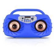 Caixa de Som Amplificada Bluetooth Portátil 20 Watts Mp3 Rádio Fm Usb Microfone - Azul