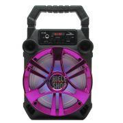 Caixa de Som Amplificada Bluetooth 5.0 Portátil 20 Watts Mp3 Rádio Fm Usb - Rosa