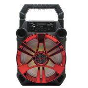 Caixa de Som Amplificada Bluetooth 5.0 Portátil 20 Watts Mp3 Rádio Fm Usb - Vermelho