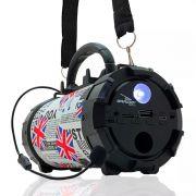 Caixa de Som Amplificada Bluetooth Portátil Mp3 Rádio Fm Usb P2 - Inglaterra