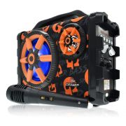 Caixa Som Amplificada Bluetooth 30W RMS Portátil Mp3 Rádio Fm Usb - Bazooka