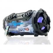 Caixa Som Amplificada Bluetooth 40W RMS Portátil Mp3 Rádio Fm Usb - Bazooka