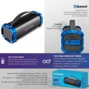 Caixa Som Amplificada Bluetooth 50W RMS Portátil Mp3 Rádio Fm Usb - Bazooka