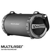 Caixa Som Amplificada Bluetooth Canhão USB, AUX, SD, FM, P2 Bazooka Original