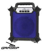 Caixa Som Amplificada Bluetooth Portátil Mp3 Rádio Fm Usb P2 - Azul