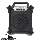 Caixa Som Amplificada Bluetooth Portátil Mp3 Rádio Fm Usb P2 - Preto