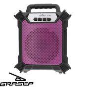 Caixa Som Amplificada Bluetooth Portátil Mp3 Rádio Fm Usb P2 - Rosa