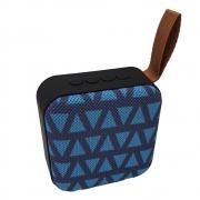 Caixinha de Som Portátil Bluetooth Mp3 Usb Cartão Sd Fm - T5 Azul Listrada