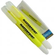 Caneta Marca Texto Gel Amarelo Caixa com 6 Unidades