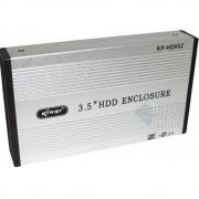 Case Hd 3.5 para HD Externo Usb 2.0 Hd 3.5 Sata Hd Externo Notebook Pc - Prata