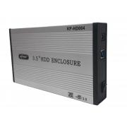 Case Hd 3.5 para HD Externo Usb 3.0 Hd 3.5 Sata Hd Externo Notebook Pc - Prata