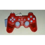 Controle Ps1 Original Dual Shock Clear Red