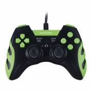 Controle PS3, PC Gamer Multilaser Com Fio, Preto - Verde