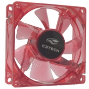 Cooler Fan Led 80mm Storm Series Red até 2200 RPM Gabinete Pc Gamer