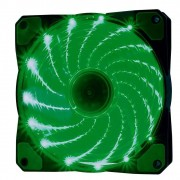 Cooler Rgb 120mm 15 Leds Verde Pc Gamer Fan Gabinete Gaming