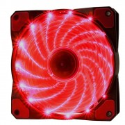 Cooler Rgb 120mm 15 Leds Vermelho Pc Gamer Fan Gabinete Gaming