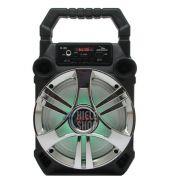 Caixa de Som Amplificada Bluetooth 5.0 Portátil 20 Watts Mp3 Rádio Fm Usb - Prata