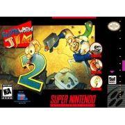 Earthworm Jim 2 Super Nintendo 100% Original Americano