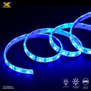 Fita de LED VX Gaming 60 Leds Pc Gamer Gabinete 1 Metro Azul Conexão Molex
