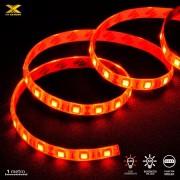 Fita de LED VX Gaming 60 Leds Pc Gamer Gabinete 1 Metro Vermelho Conexão Molex