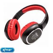 Fone Bluetooth Sem Fio Headphone Wireless - Vermelho