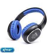 Fone de Ouvido Bluetooth Headphone Estéreo Sem Fio Mp3 Super Bass - Azul