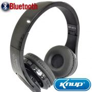 Fone De Ouvido Bluetooth Headphone Sem Fio Mp3 Fm Stereo - Preto