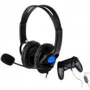 Fone De Ouvido Headset Com Microfone Ps4 Xbox One plugue P3 Pc Celular