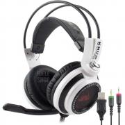 Fone De Ouvido Headset Gamer 7.1 Com Microfone Knup Ultra Bass Pc Led Kp-400