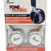 Fone De Ouvido Para Celulares Smartphones Headphone Branco