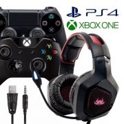 Fone Headset 7.1 Gamer Microfone Play 4 Xbox One Pc Original Knup