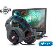 Fone Headset Gamer Com Microfone Knup Kp-488 Ultra 7.1 com plugue P2