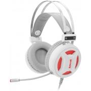 Fone Headset Gamer Redragon H210W Minos Lunar White Surround 7.1