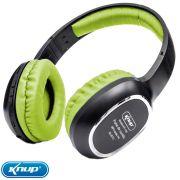 Fone Ouvido Bluetooth Mp3 Cartão Sd Fm Headphone Verde