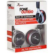 Fone Ouvido Headset Microfone P2 Estéreo Celular Smartphone Vermelho