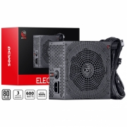 Fonte 80 Plus 600W Real Atx Electro V2 Pcyes 20/24 pinos Pc Gamer - ELV2WHPTO600W
