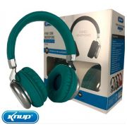 Fone De Ouvido Bluetooth 5.0 Headphone com Microfone Original Knup - Verde