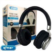 Fone de Ouvido Headphone Bluetooth 5.0 Original Knup - Preto