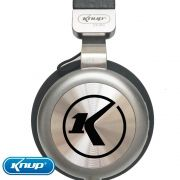 Fone de Ouvido Headphone Bluetooth 5.0 Original Knup - Preto