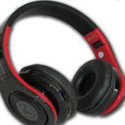 Headphone Fone De Ouvido Bluetooth Super Bass Sd Fm Original Preto e Vermelho