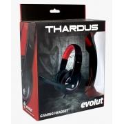 Headset Gamer Evolute Thardus EG-302RD + Adaptador P3 Multiplataforma